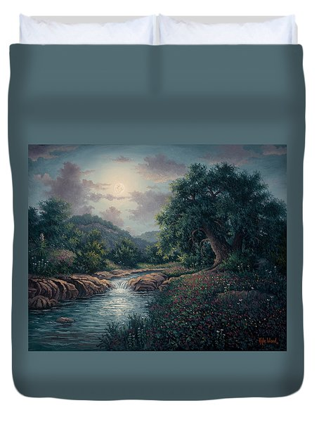 Whispering Night Duvet Cover