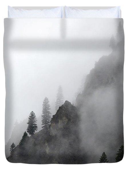 Whispering Peaks Duvet Cover