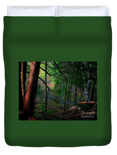 Duvet Cover featuring the photograph Whisperings by Elfriede Fulda