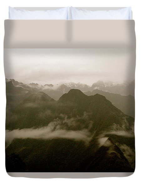 Whispers In The Andes Mountains Duvet Cover