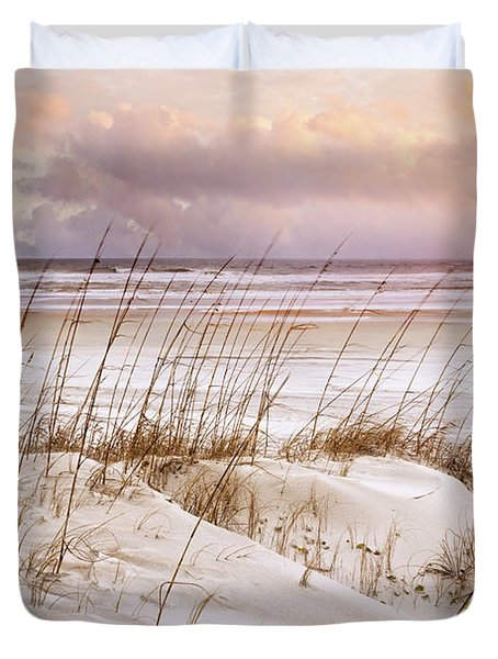 Duvet Cover featuring the photograph Whispers In The Dunes by Debra and Dave Vanderlaan