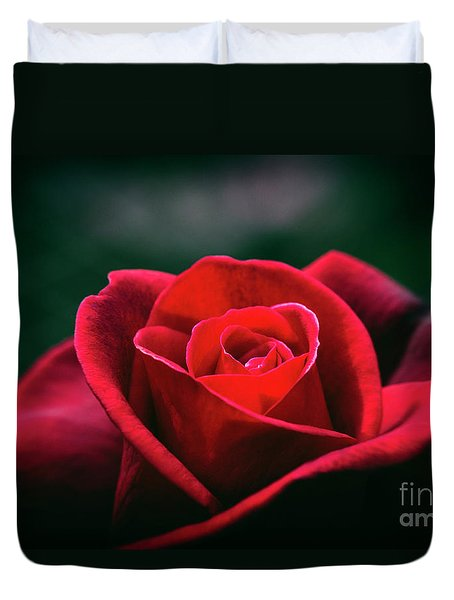 Duvet Cover featuring the photograph Whispers Of Passion by Linda Lees