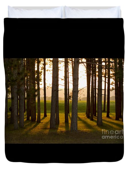 Whispers Of The Trees Duvet Cover by Inspired Arts
