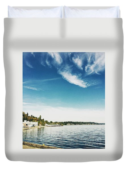 Whispy Northwest Days Duvet Cover