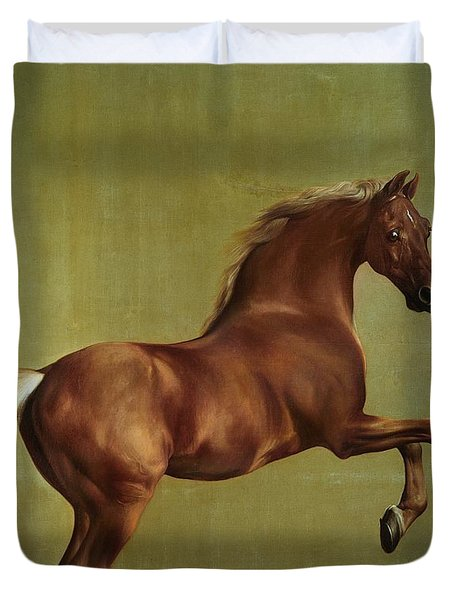 Whistlejacket Duvet Cover by George Stubbs