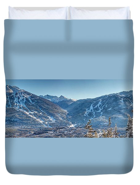 Whistler Blackcomb Ski Resort Duvet Cover