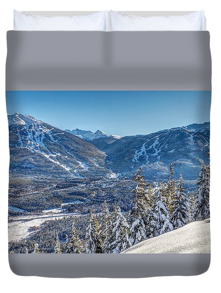Whistler Blackcomb Winter Wonderland Duvet Cover