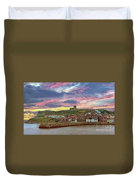 Whitby Abbey Uk Duvet Cover