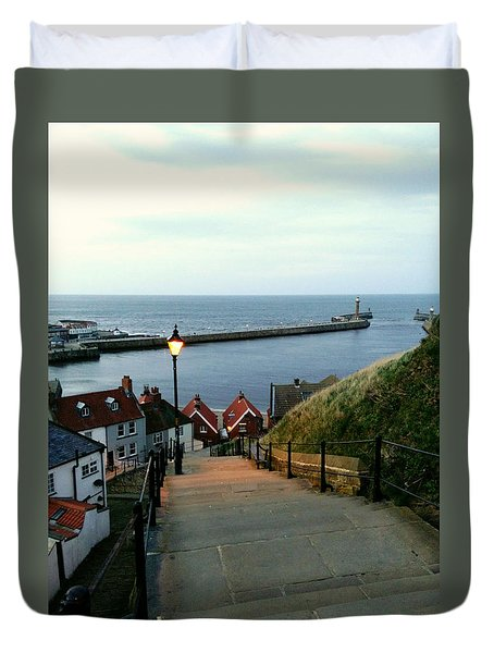 Whitby After Sun Down Duvet Cover