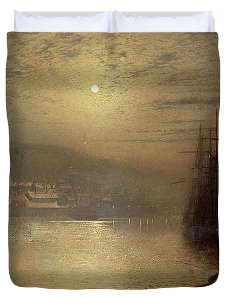 Whitby Duvet Cover by John Atkinson Grimshaw