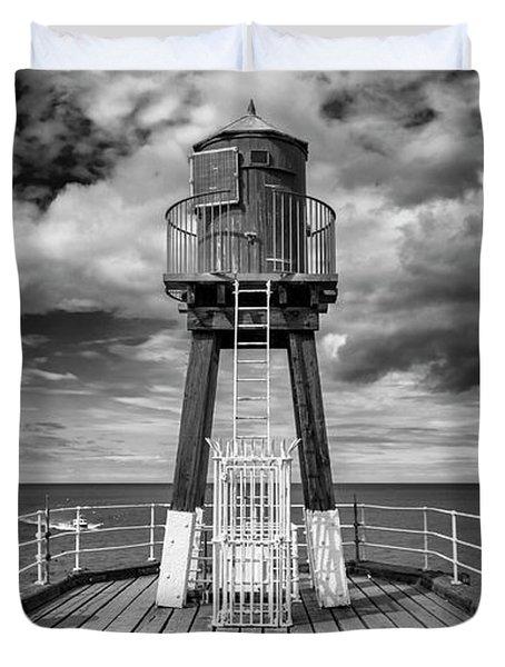 Whitby Pier Duvet Cover by Gillian Dernie