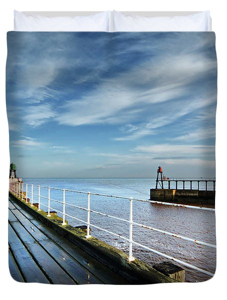 Whitby Piers Duvet Cover