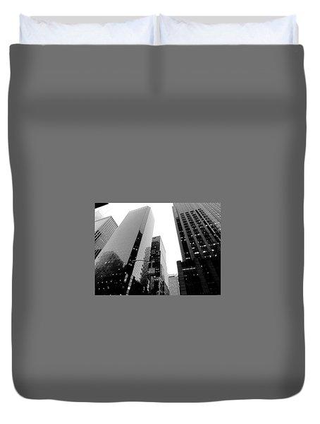 White And Black Inspiration  Duvet Cover