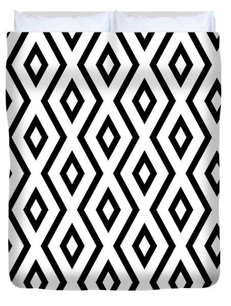 White And Black Pattern Duvet Cover