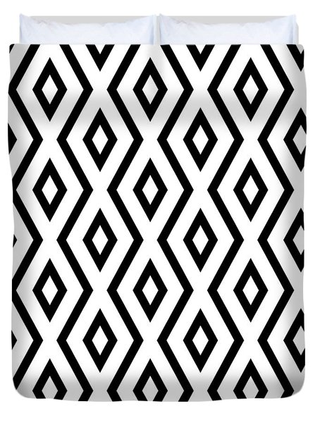 White And Black Pattern Duvet Cover
