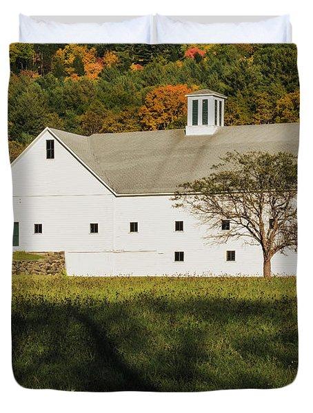 White Barn In Color Duvet Cover