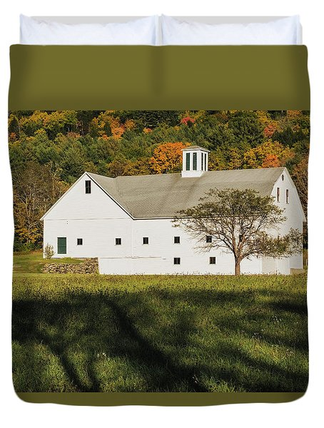 White Barn In Color Duvet Cover