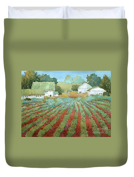 White Barns In Virginia Duvet Cover