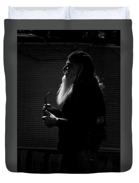 White Beard Duvet Cover by Ralph Vazquez