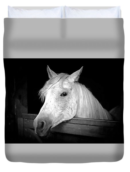 White Beauty Duvet Cover by Marion Johnson
