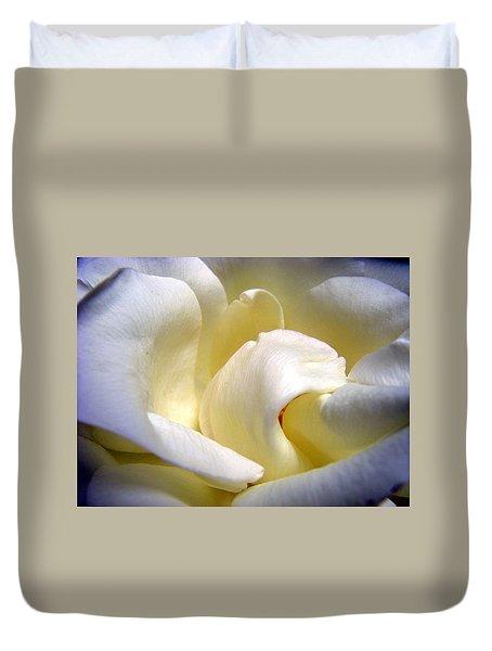 White Beauty Rose Duvet Cover