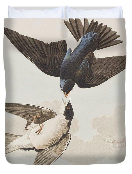 White-bellied Swallow Duvet Cover by John James Audubon