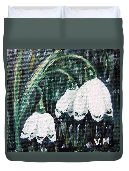 White Bells Duvet Cover