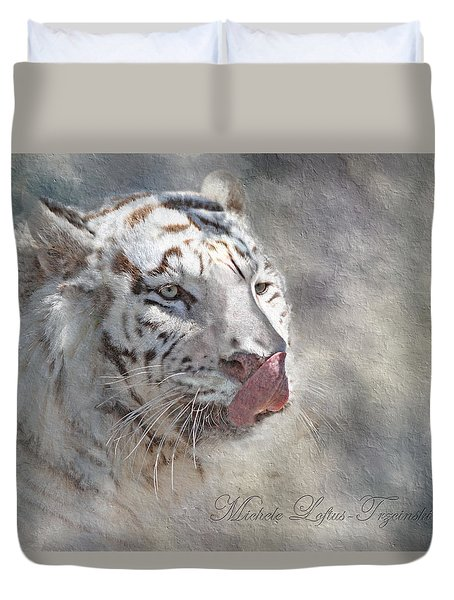 White Bengal Tiger Duvet Cover