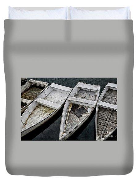 White Boats Duvet Cover