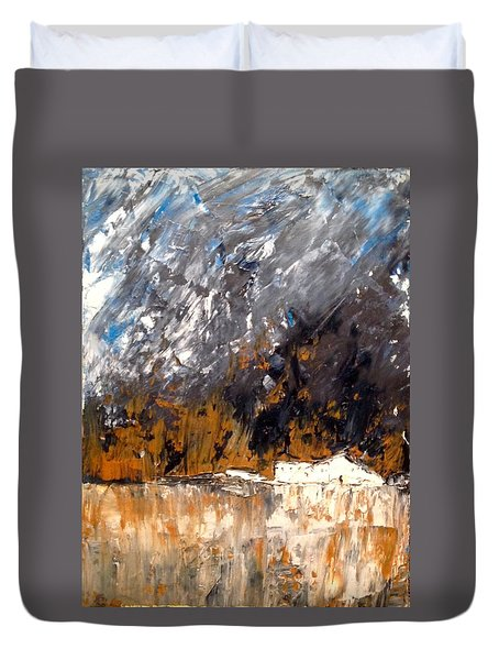 White Buildings No.3 Duvet Cover