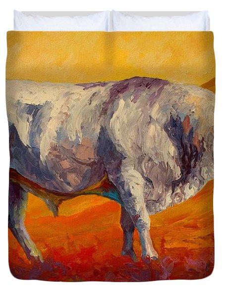 White Bull Duvet Cover