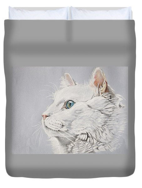 White Cat Duvet Cover