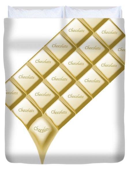 White Chocolate Bar Melting Duvet Cover