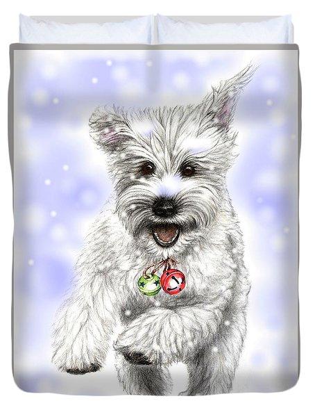 White Christmas Doggy Duvet Cover