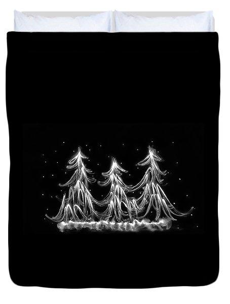 White Christmas Duvet Cover
