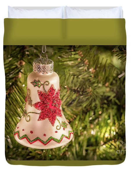 White Christmas Ornament Duvet Cover