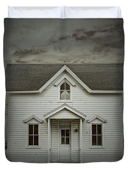 White Clapboard Duvet Cover