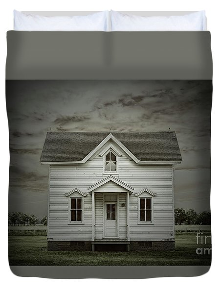 White Clapboard Duvet Cover