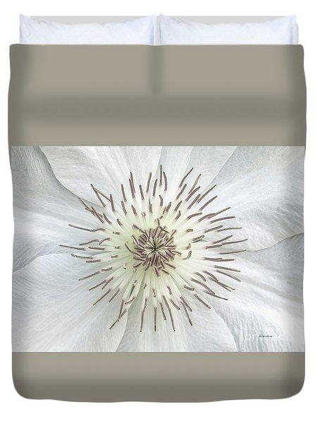 White Clematis Flower Garden 50121b Duvet Cover