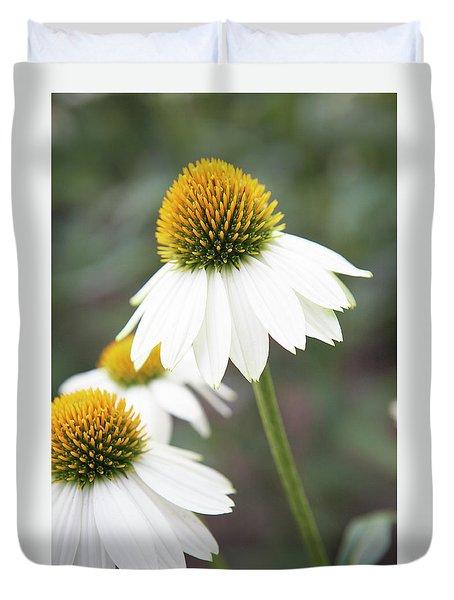 White Coneflower Duvet Cover