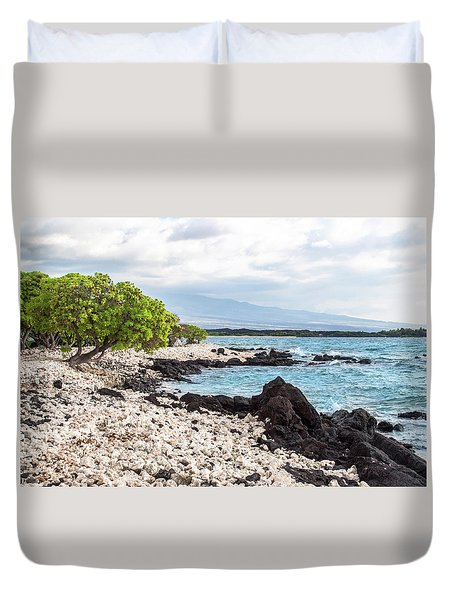 White Coral Coast Duvet Cover by Denise Bird