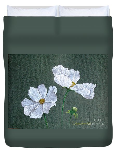 White Cosmos Duvet Cover