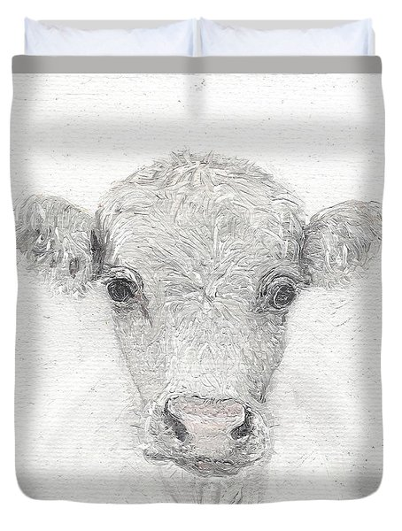White Cow Duvet Cover