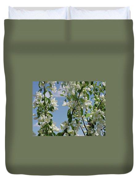 White Crabapple Duvet Cover