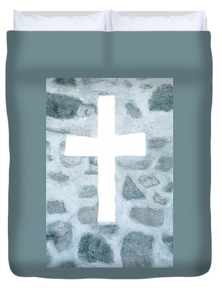 White Cross Duvet Cover