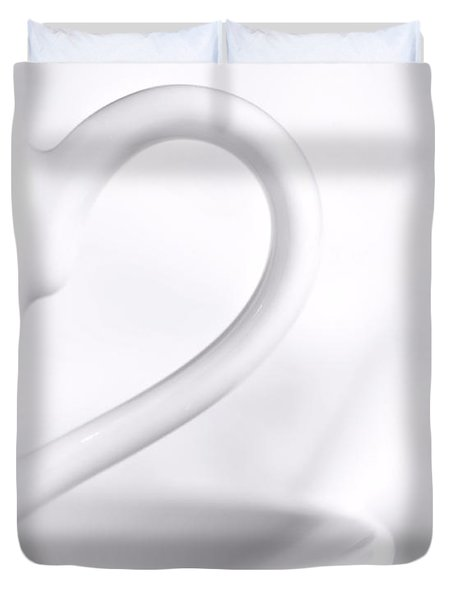 White Cup And Saucer Duvet Cover by Josephine Buschman