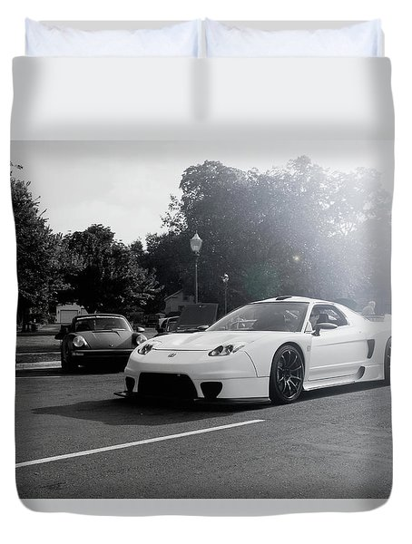 White Custom Nsx  Duvet Cover