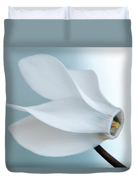 White Cyclamen. Duvet Cover
