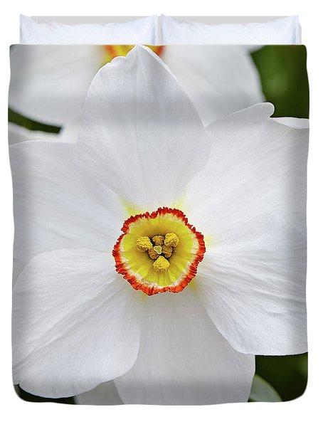 White Daffodil Duvet Cover