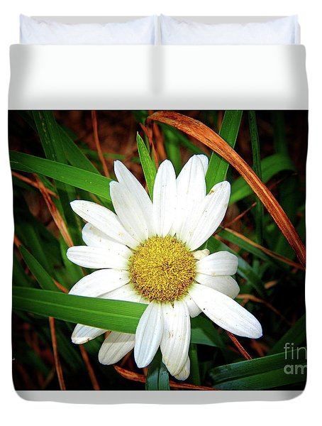 White Daisy Duvet Cover